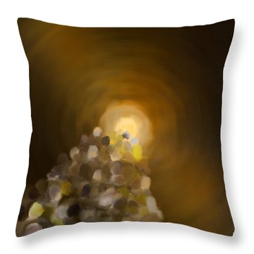 Together Into The Bright Unknown Throw Pillow by Mathilde Vhargon