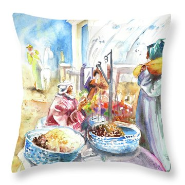 Together Old In Morocco 01 Throw Pillow by Miki De Goodaboom