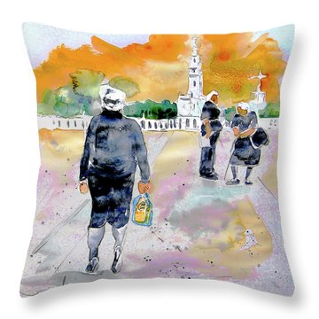 Together Old In Portugal 03 Throw Pillow by Miki De Goodaboom