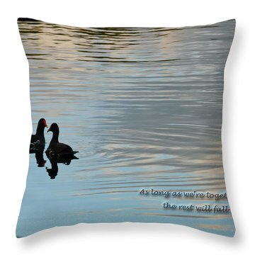 Together Throw Pillow by Steven Sparks
