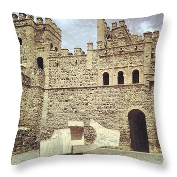 #toledo #castle #castello #castillo Throw Pillow