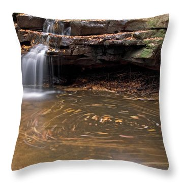 Throw Pillow featuring the photograph Tolliver Falls by Jeannette Hunt