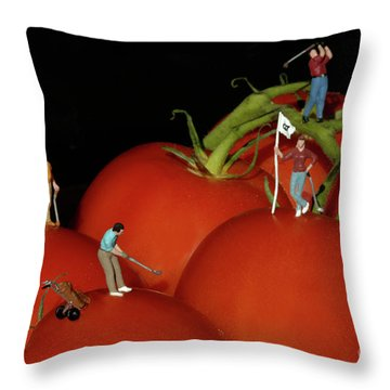 Tomato Beach Golf Classsic Throw Pillow by Bob Christopher