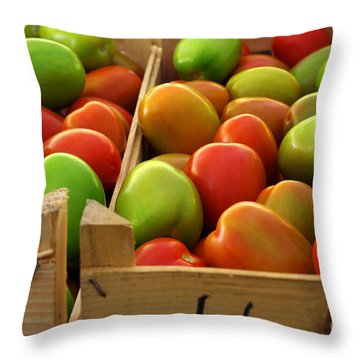 Tomatoes Throw Pillow by Carlos Caetano