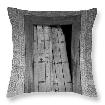 Throw Pillow featuring the photograph Tomb Door by David Pantuso