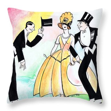 Top Hat Trio Throw Pillow by Mel Thompson