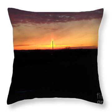 Throw Pillow featuring the photograph Topeka Sunset by Mark McReynolds