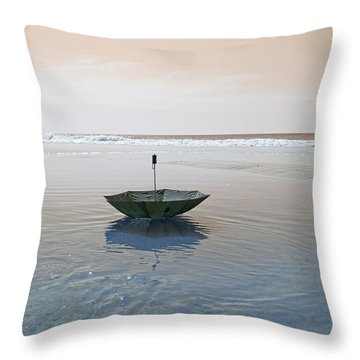 Topsail Floating Umbrella Throw Pillow by Betsy Knapp