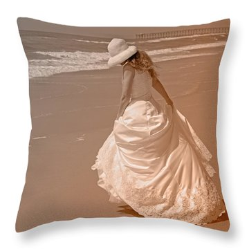 Topsail Gown Throw Pillow by Betsy Knapp