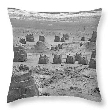 Topsail Island Sandcastle Throw Pillow