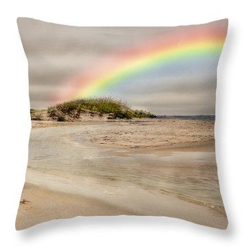 Topsail Rainbow Throw Pillow by Betsy Knapp