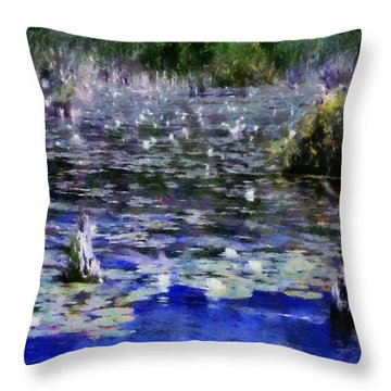 Torch River Water Lilies Ll Throw Pillow