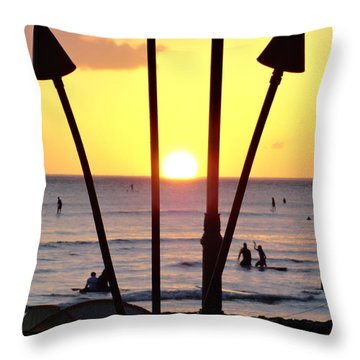 Torched Sunset Throw Pillow
