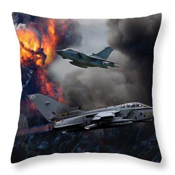 Tornado Gr4 Attack Throw Pillow by Ken Brannen