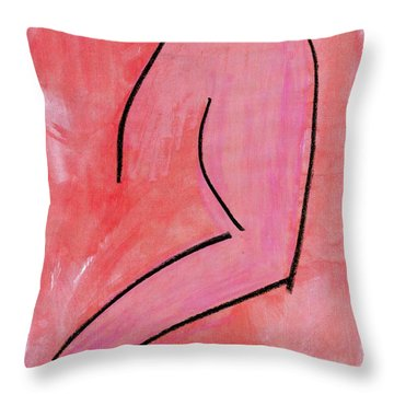 Torso Throw Pillow by Patrick Morgan