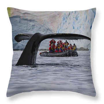 Total Fluke Throw Pillow by Tony Beck