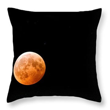 Total Lunar Eclipse Throw Pillow by Matt Suess