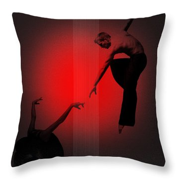 Touch Throw Pillow by Naxart Studio