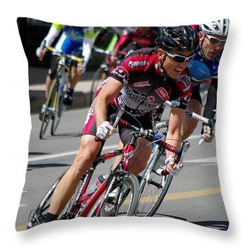 Throw Pillow featuring the photograph Tour Of The Gila - Criterium  by Vicki Pelham