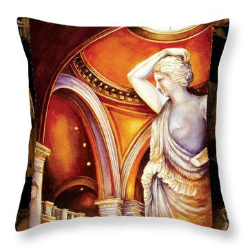Touring The Met Throw Pillow