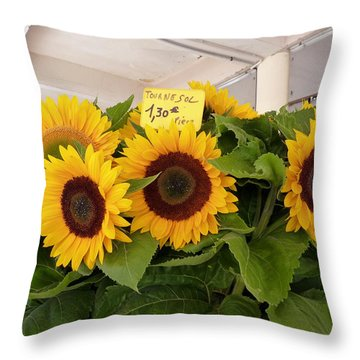 Tournesol Throw Pillow by Carla Parris