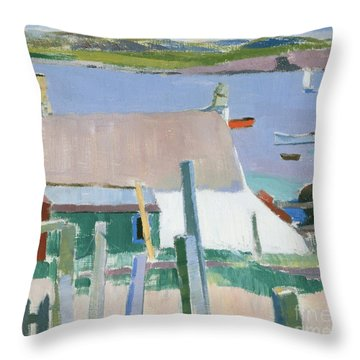 Towards Mull Throw Pillow by Francis Campbell Boileau Cadell