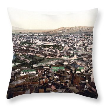 Towards The Megectski Castle - Tbilisi Georgia Throw Pillow by International  Images
