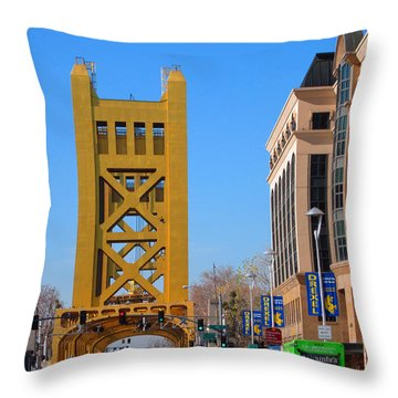 Tower Bridge 4 Throw Pillow by Barry Jones