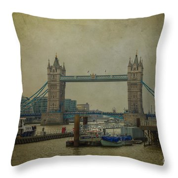 Tower Bridge. Throw Pillow by Clare Bambers