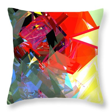 Tower Poly 17 Rose Throw Pillow by Russell Kightley