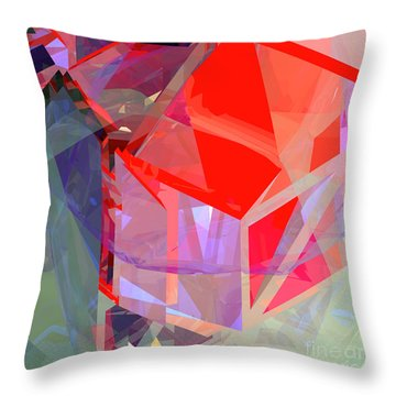 Tower Poly 21 Tree House Throw Pillow by Russell Kightley