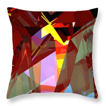 Tower Series 20 Night House Throw Pillow by Russell Kightley