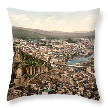 Town Fortress In Tbilisi - Georgia Throw Pillow by International  Images