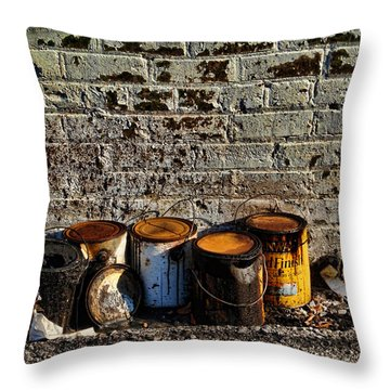 Toxic Alley Grunge Art Throw Pillow by Kathy Clark