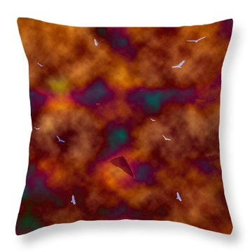 Toxic Sky Throw Pillow