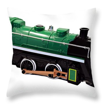 Toy Engine Throw Pillow by Susan Leggett
