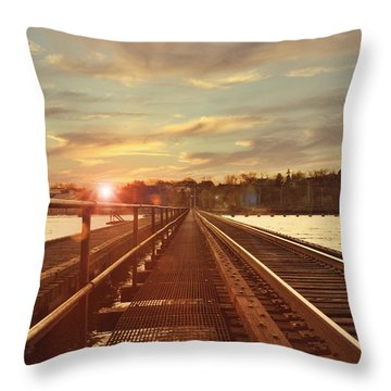 Tracks To Greatness Throw Pillow by Joel Witmeyer