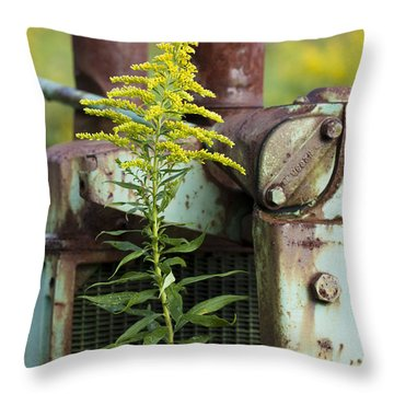Tractor Throw Pillow by Carrie Cranwill