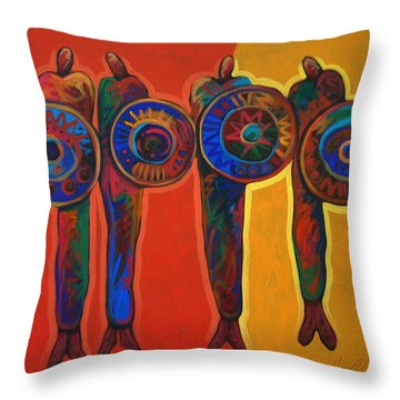 Trading Places Throw Pillow by Lance Headlee