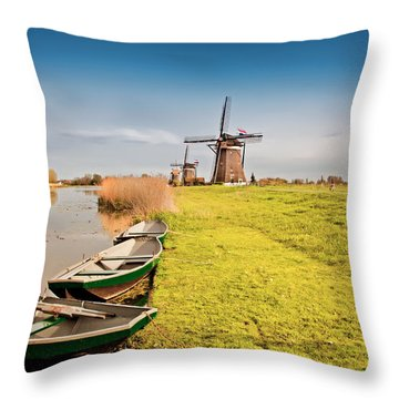 Traditional  Dutch Landscape Throw Pillow
