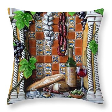 Traditions Throw Pillow by Joan Garcia