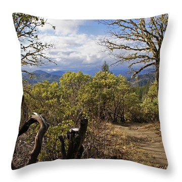 Trail At Cathedral Hills Throw Pillow by Mick Anderson