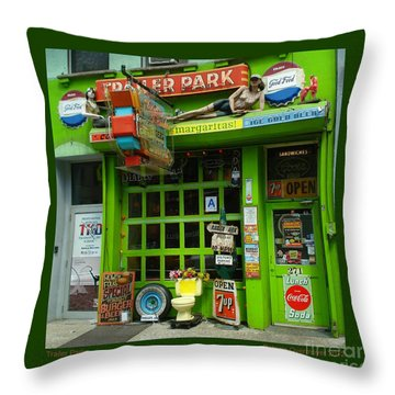 Trailer Park Throw Pillow by Patricia Overmoyer