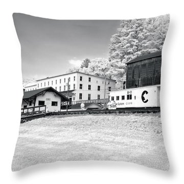 Throw Pillow featuring the photograph Train Depot by Mary Almond