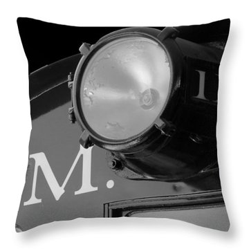 Throw Pillow featuring the photograph Train Headlight by Darleen Stry