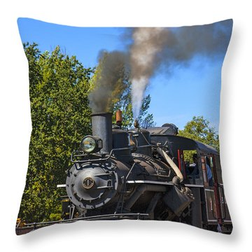 Train Number One Throw Pillow by Garry Gay