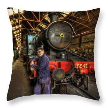Train Of Thoughts Throw Pillow by Evelina Kremsdorf