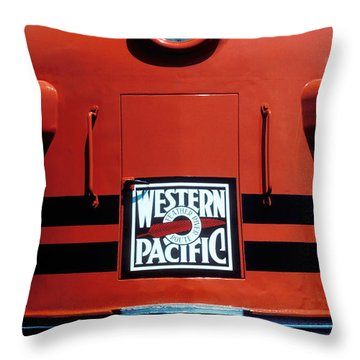 Train Western Pacific Throw Pillow by Garry Gay