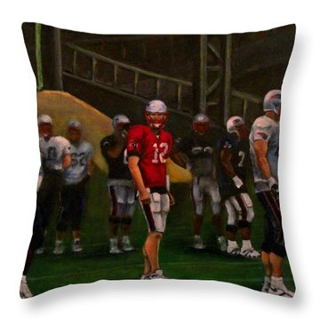 Throw Pillow featuring the painting Training Camp by Sarah Farren
