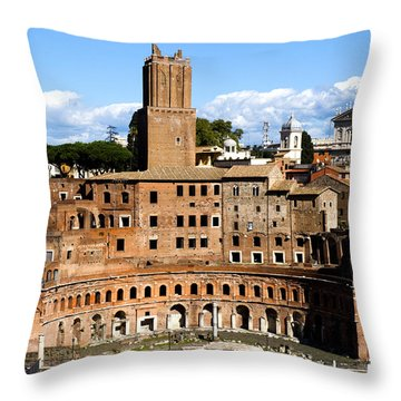 Trajan's Market  Throw Pillow